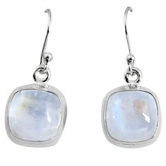10.71cts natural rainbow moonstone 925 sterling silver dangle earrings p89376
