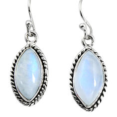 11.73cts natural rainbow moonstone 925 sterling silver dangle earrings p89673