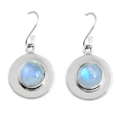 7.15cts natural rainbow moonstone 925 sterling silver dangle earrings p91520