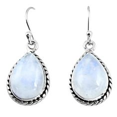 11.44cts natural rainbow moonstone 925 sterling silver earrings jewelry p92683
