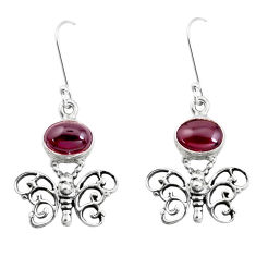 6.33cts natural red garnet 925 sterling silver butterfly earrings jewelry p38447
