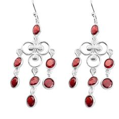 11.07cts natural red garnet 925 sterling silver chandelier earrings p43895