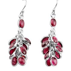 24.33cts natural red garnet 925 sterling silver chandelier earrings p77403