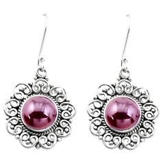 7.66cts natural red garnet 925 sterling silver dangle earrings jewelry p26366