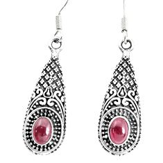 3.42cts natural red garnet 925 sterling silver dangle earrings jewelry p34490