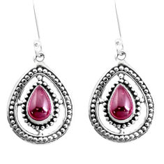 5.52cts natural red garnet 925 sterling silver dangle earrings jewelry p39306
