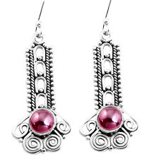2.69cts natural red garnet 925 sterling silver dangle earrings jewelry p39323