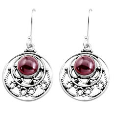 6.83cts natural red garnet 925 sterling silver dangle earrings jewelry p41423