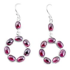 13.68cts natural red garnet 925 sterling silver dangle earrings jewelry p56902