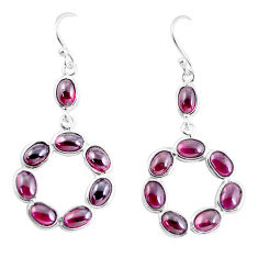 13.68cts natural red garnet 925 sterling silver dangle earrings jewelry p56903