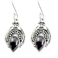 3.91cts natural red garnet 925 sterling silver dangle earrings jewelry p58159
