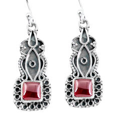 4.43cts natural red garnet 925 sterling silver dangle earrings jewelry p59985