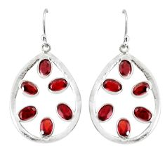 12.22cts natural red garnet 925 sterling silver dangle earrings jewelry p60653