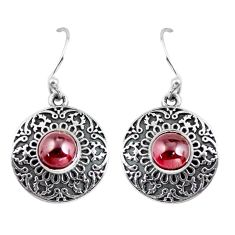 2.69cts natural red garnet 925 sterling silver dangle earrings jewelry p63865