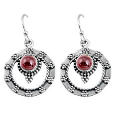 2.44cts natural red garnet 925 sterling silver dangle earrings jewelry p63882