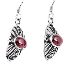 3.62cts natural red garnet 925 sterling silver dangle earrings jewelry p63898