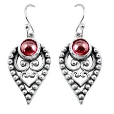 2.85cts natural red garnet 925 sterling silver dangle earrings jewelry p63906