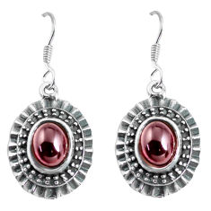 4.55cts natural red garnet 925 sterling silver dangle earrings jewelry p63950