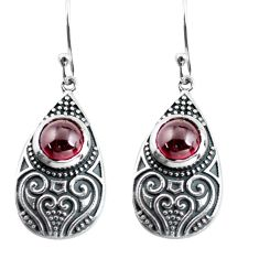 3.24cts natural red garnet 925 sterling silver dangle earrings jewelry p63965