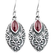 3.51cts natural red garnet 925 sterling silver dangle earrings jewelry p63994