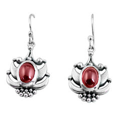 4.21cts natural red garnet 925 sterling silver dangle earrings jewelry p64007