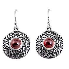 2.44cts natural red garnet 925 sterling silver dangle earrings jewelry p64019
