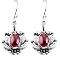 4.55cts natural red garnet 925 sterling silver dangle earrings jewelry p64055