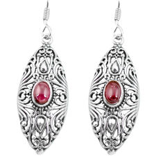 3.44cts natural red garnet 925 sterling silver dangle earrings jewelry p64866