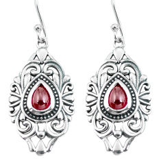 4.71cts natural red garnet 925 sterling silver dangle earrings jewelry p64915