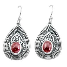 4.72cts natural red garnet 925 sterling silver dangle earrings jewelry p64929