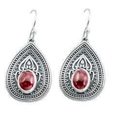4.56cts natural red garnet 925 sterling silver dangle earrings jewelry p64930
