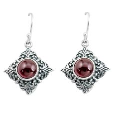 6.89cts natural red garnet 925 sterling silver dangle earrings jewelry p65009