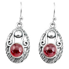 5.83cts natural red garnet 925 sterling silver dangle earrings jewelry p65028