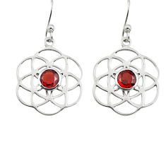 1.60cts natural red garnet 925 sterling silver dangle earrings jewelry p73506