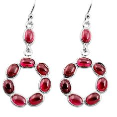 14.08cts natural red garnet 925 sterling silver dangle earrings jewelry p77341