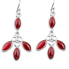 11.80cts natural red garnet 925 sterling silver dangle earrings jewelry p77391