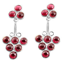 14.72cts natural red garnet 925 sterling silver dangle earrings jewelry p77461