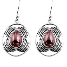 6.31cts natural red garnet 925 sterling silver dangle earrings jewelry p77568