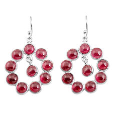 15.43cts natural red garnet 925 sterling silver dangle earrings jewelry p78383