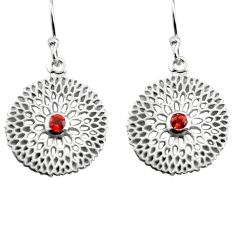 0.92cts natural red garnet 925 sterling silver dangle earrings jewelry p84030