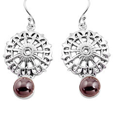 5.45cts natural red garnet 925 sterling silver dangle earrings jewelry p84915