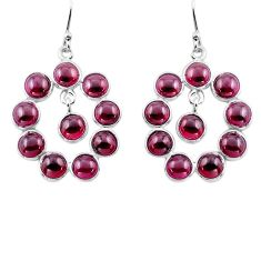15.34cts natural red garnet 925 sterling silver dangle earrings jewelry p88388