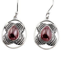 6.26cts natural red garnet 925 sterling silver dangle earrings jewelry p88446