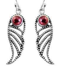 2.01cts natural red garnet 925 sterling silver dangle earrings jewelry p91410