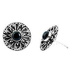 2.03cts natural red garnet 925 sterling silver stud earrings jewelry p34369