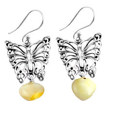 7.22cts natural white pearl 925 sterling silver butterfly earrings jewelry c4587