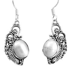 5.63cts natural white pearl 925 sterling silver dangle earrings jewelry p34392