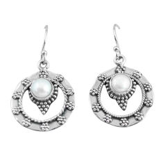 2.46cts natural white pearl 925 sterling silver dangle earrings jewelry p64001