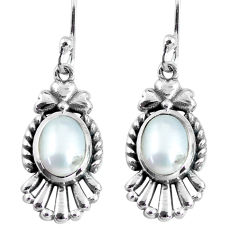 4.02cts natural white pearl 925 sterling silver dangle earrings jewelry p64034