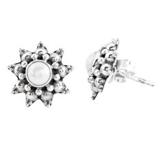1.96cts natural white pearl 925 sterling silver stud earrings jewelry p48850